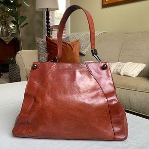 Furla brown leather handbag